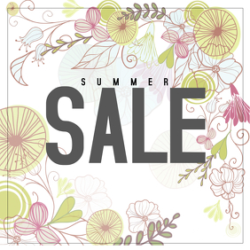 flower summer sale instagram post template