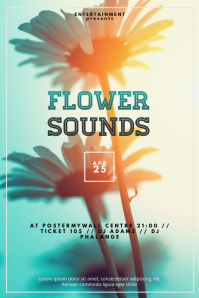 Flower Summer Spring Event Party Flyer Template