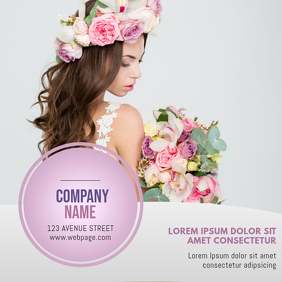 Flower ubusiness or hairdresser beauty salon card instagram