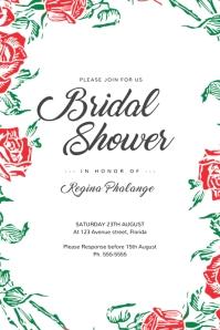 Flower Wedding Bridal Shower Invitation