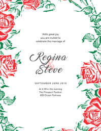 Flower Wedding Invitation Template