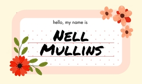 Flowers Light Name Tag template