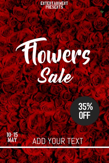 Flowers sale flyer template