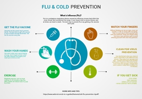Flu and cold Prevention infographic template