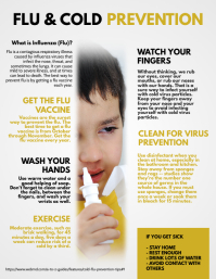 Flu Influenza Prevention Flyer