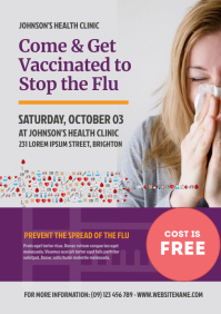 Flu Shot Campaign Flyer A4 template