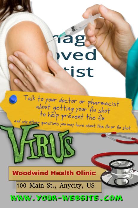flu shot template postermywall