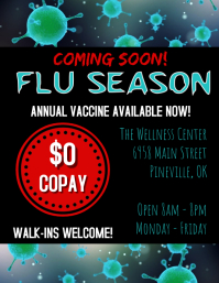 Flu Vaccination Flyer template
