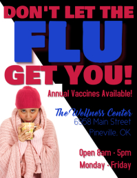 Flu Vaccine Flyer template