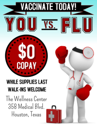 Flu Vaccine Flyer Pamflet (VSA Brief) template