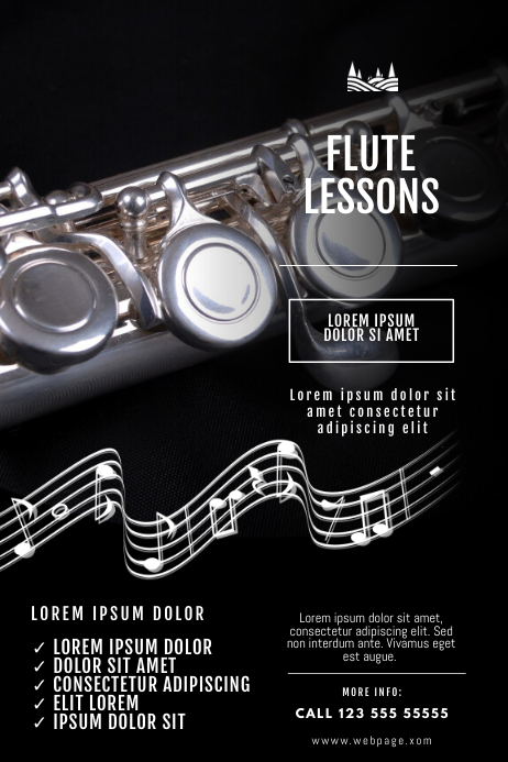 Flute lessons Flyer Template