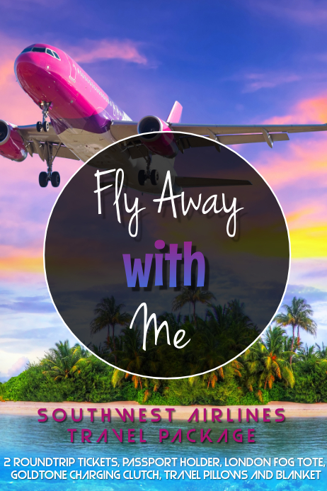 Fly Away with Me Plakat template