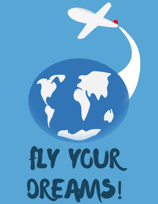 Fly Your Dreams Travel Poster