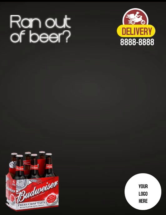 Flyer Beer delivery Løbeseddel (US Letter) template