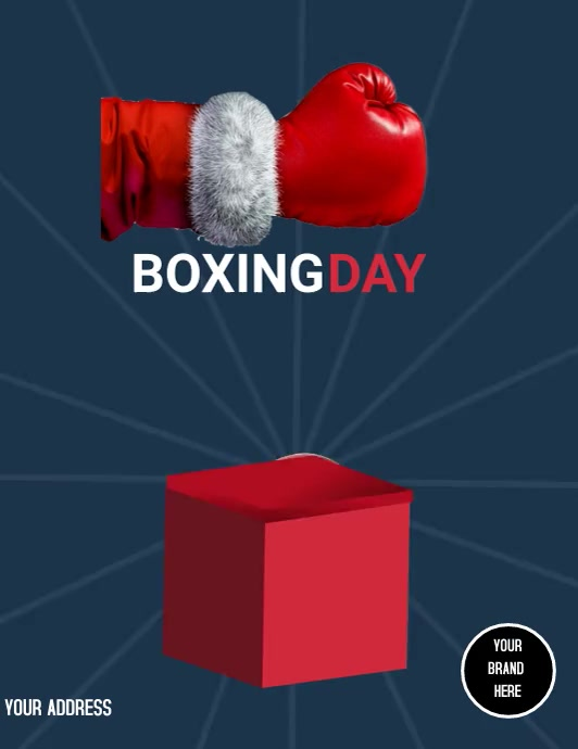 Flyer Boxing Day template