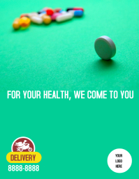 Flyer Delivery pharmacy Рекламная листовка (US Letter) template