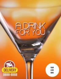 Flyer DRINK 传单(美国信函) template