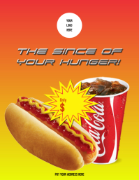 Flyer Hot dog with coke