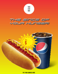 Flyer Hot dog with Pepsi