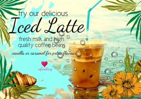 flyer iced latte template A4