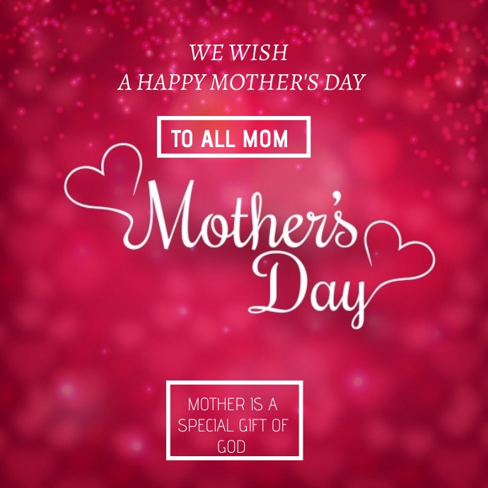 Flyer Mother's day Logotyp template