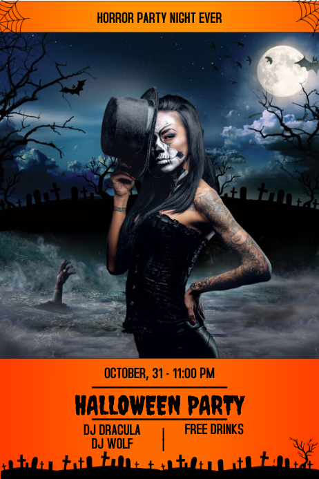 Flyer party halloween