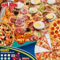 flyer pizzas Instagram 帖子 template