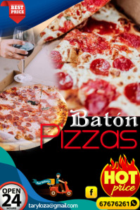 flyer pizzas Poster template