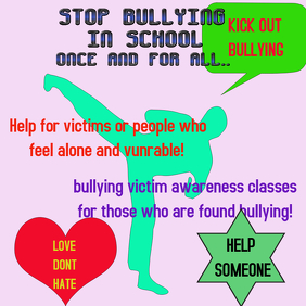 flyer poster anti bullying
