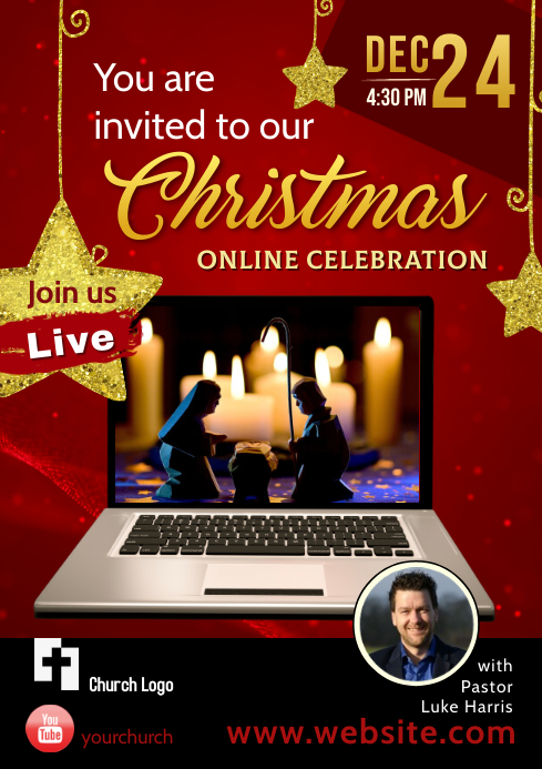 Flyer / Poster for Christmas Celebration A4 template