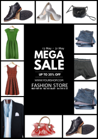 Flyer Sale Fashion Poster Store Shop Advert A4 template