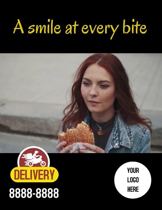 Flyer Smile burger Pamflet (Letter AS) template