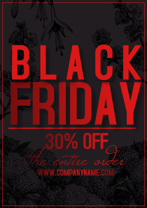 flyer template black friday A4