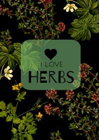 flyer template i love herbs A4