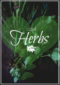 flyer template i love herbs A4