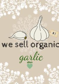 flyer template organic A4