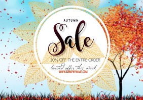 flyer template poster autumn sale A4