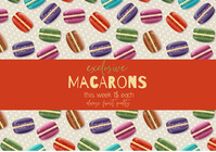 flyer template poster macarons bakery