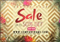 flyer template season sale A4