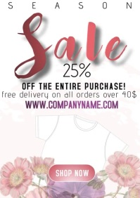 flyer template spring sale A4