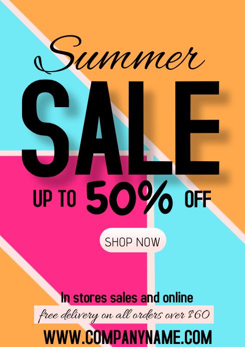 flyer template spring sale summer A4