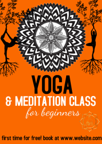 flyer template yoga