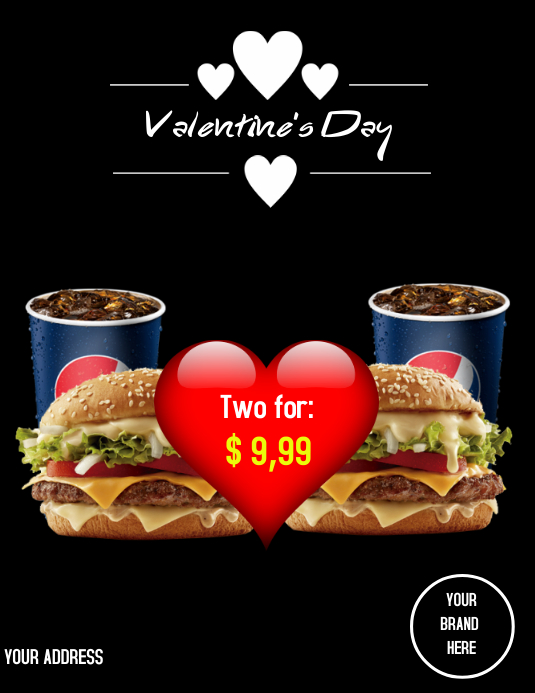 Flyer Valentine's Day template