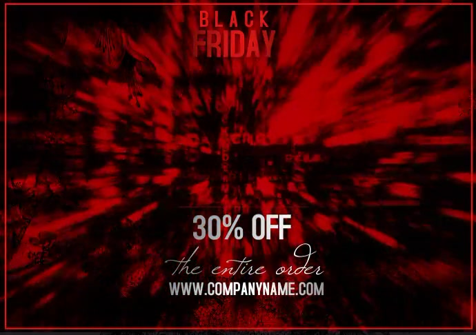 flyer video template black friday A4