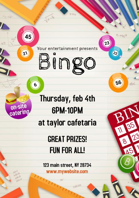 Flyers Bingo A4 template