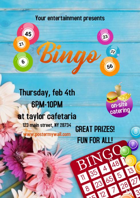 Flyers Bingo Spring A4 template