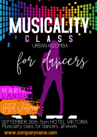 flyers template musicality class A4