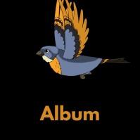 Flying bird album cover video Ikhava ye-Albhamu template