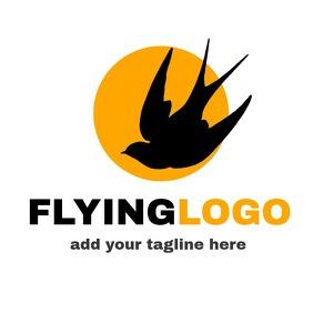 Flying bird logo animal icon