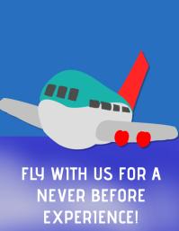 Flying experience Folheto (US Letter) template
